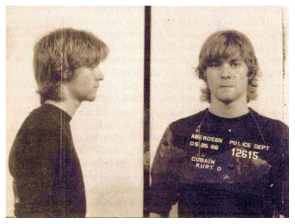 Policejní snímek Kurta Cobaina z května roku 1986