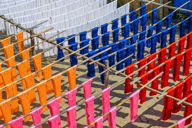 Barvicí dílny v Myanmaru