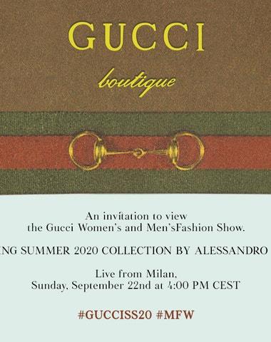 Živě z Milána: Gucci Spring/Summer 2020
