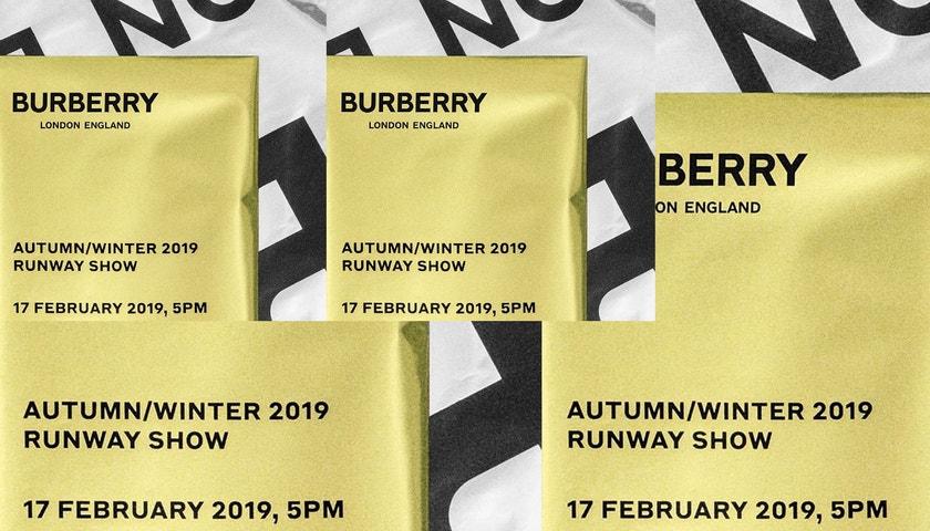 Živě z Londýna: Přehlídka Burberry pro sezonu podzim - zima 2019/20