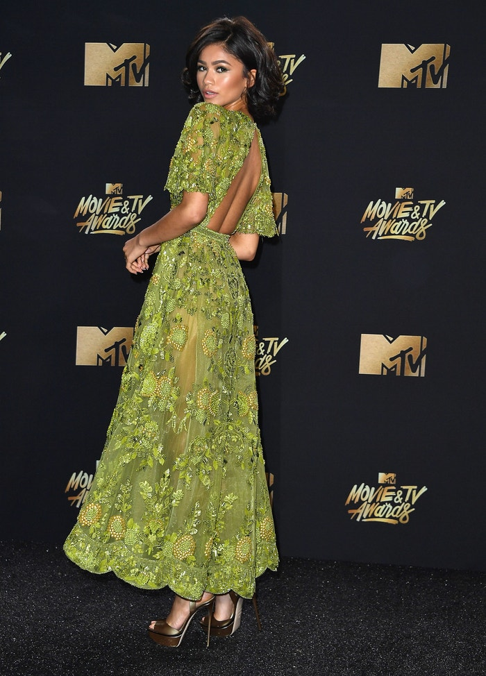 Božské šaty od Zuhair Murad a Zendaya na MTV Movie And TV Awards at The Shrine Auditorium. Květen 2017. Autor: Getty Images