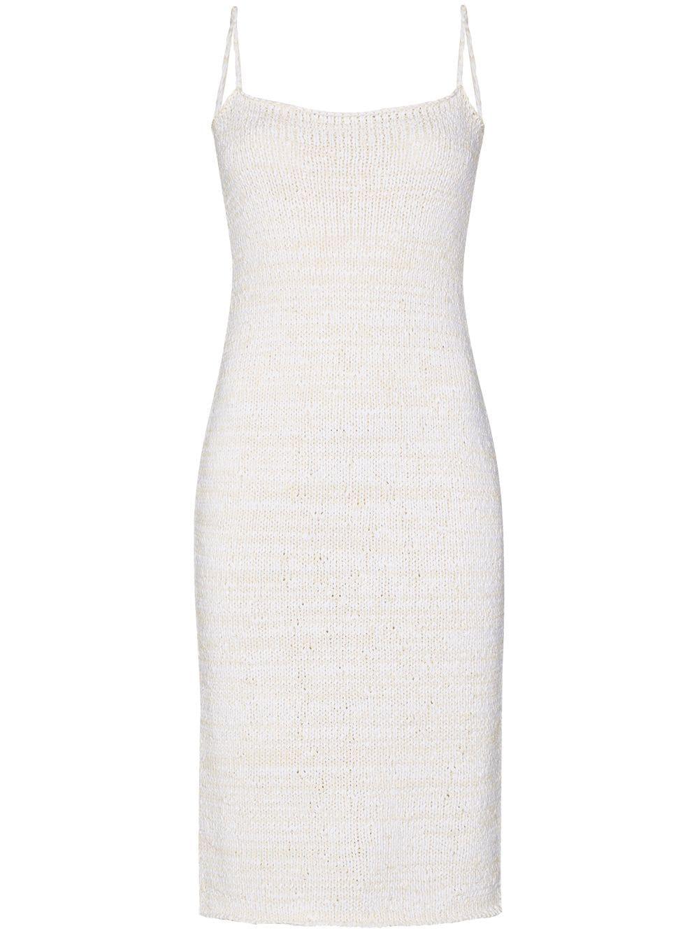Bílé úpletové šaty, BOTTEGA VENETA