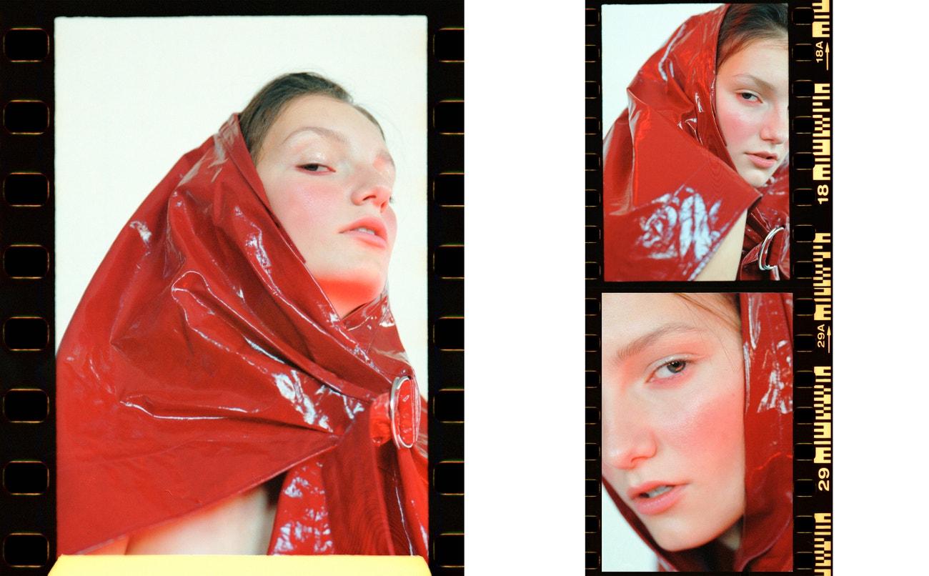 sukně, ISABEL MARANT (prodává Alizé).  Rtěnka, Estée Lauder lipstick v odstínu Bite back.