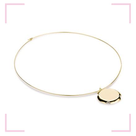 Bouchon Necklace, stříbrný, pozlacený náhrdelník dle návrhu designérky Anny Marešové z kolekce Champagne, MOOYYY, prodává MOOYYY, 2 900 Kč