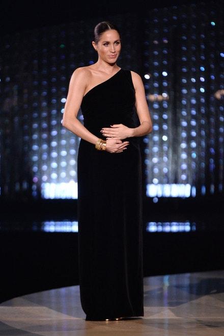 Meghan, vévodkyně ze Sussexu, The Fashion Awards, Royal Albert Hall, prosinec 2018