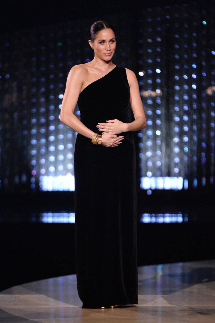 Meghan, vévodkyně ze Sussexu, The Fashion Awards, Royal Albert Hall, prosinec 2018 Autor: Jeff Spicer/BFC/Getty Images