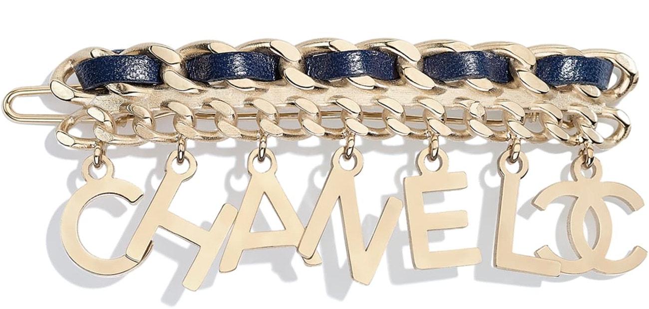 Zlatá spona do vlasů, Chanel, 550 €