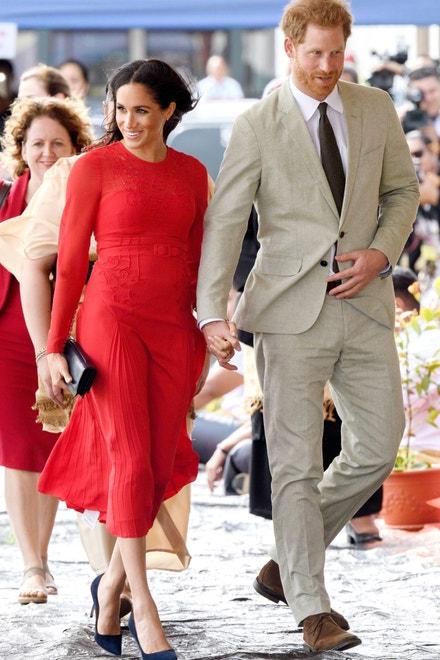 Princ Harry, vévoda ze Sussexu, a Meghan, vévodkyně ze Sussexu, na návštěvě Království Tonga, říjen 2018
