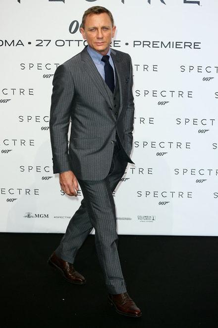 Daniel Craig na premiéře bondovky Spectre v Římě, říjen 2015