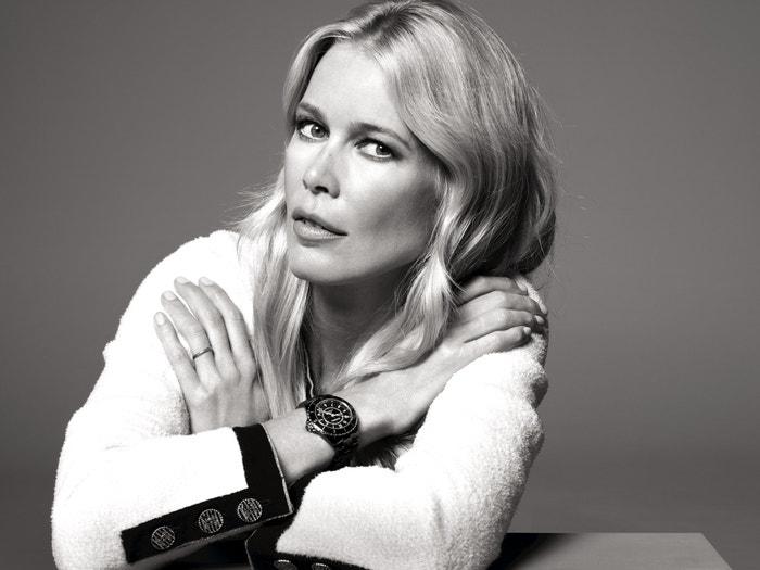 Claudia Schiffer tváří kolekce hodinek Chanel J12