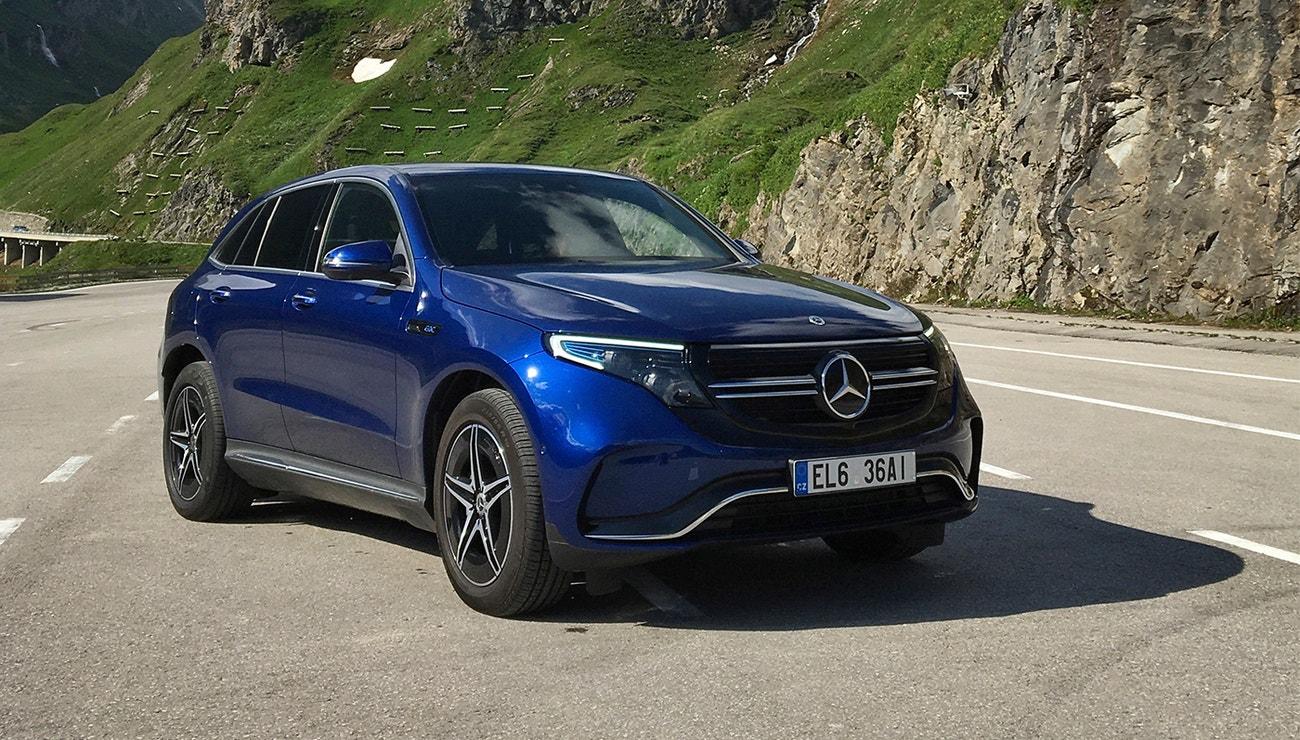 V Alpách s elektromobilem EQC od Mercedes-EQ, který se o vás postará