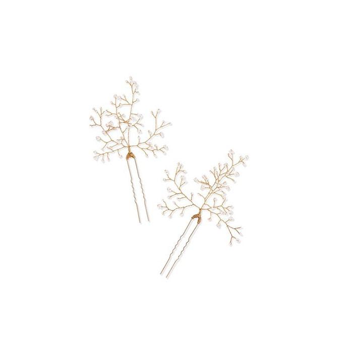 Zlaté pinetky do vlasů s perličkami, 14 / Quatorze, prodává Net-A-Porter, 189 €