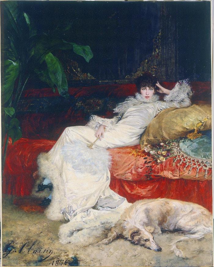 Portrét Sarah Bernhardt, Georges Clairin, 1876