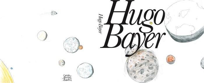 Návrh obalu knihy pro jedenáctiletého Huga Bayera