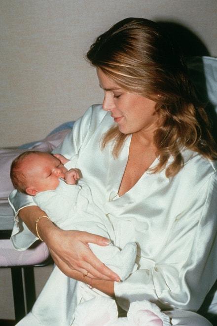 Stéphanie Monacká se synem Louisem, 1992