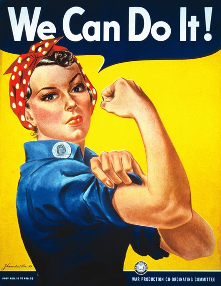 """Plakát """"We Can Do It!"""" s Rosie the Riveter, 1943"""