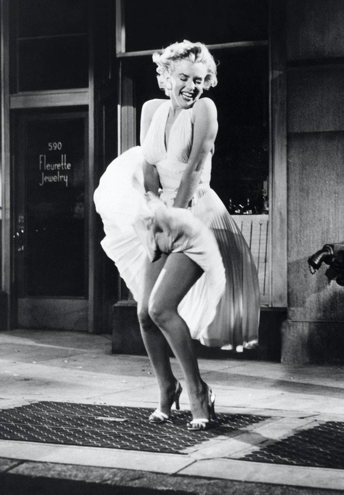 Marilyn Monroe ve filmu Slaměný vdovec, 1955      Autor: Sunset Boulevard/Corbis via Getty Images