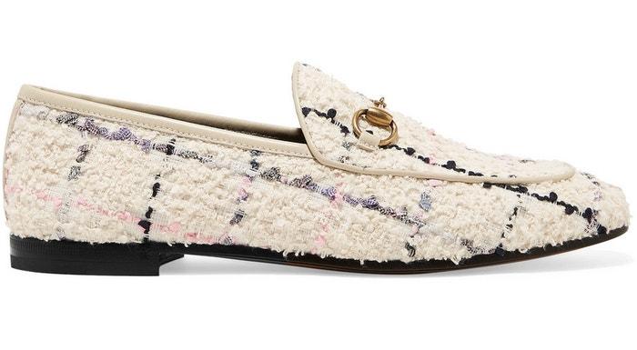 Tvídové mokasíny Jordaan, Gucci, prodává Gucci.com, 595 €