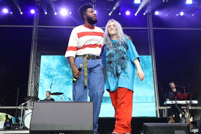 Billie Eilish a Khalid, Governors Ball Music Festival, Randall's Island, New York, červen 2018 Autor: Taylor Hill/Getty Images for Governors Ball