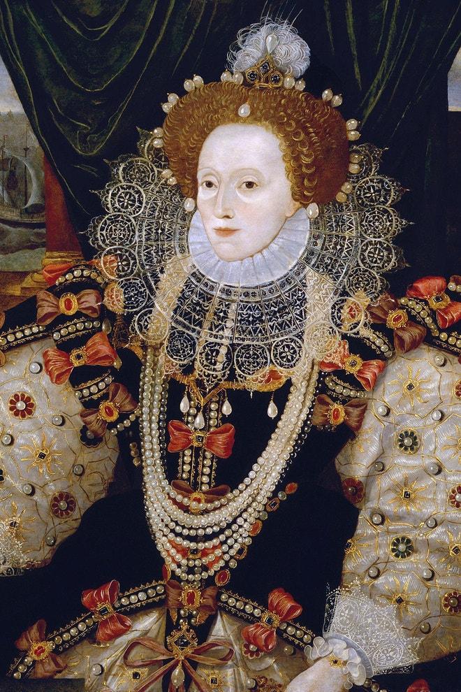 Portrét královny Alžběty I. od neznámého autora, cca 1588, National Portrait Gallery, Londýn