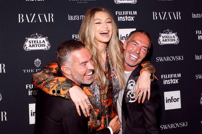 Dan a Dean Catenovi s Gigi Hadid