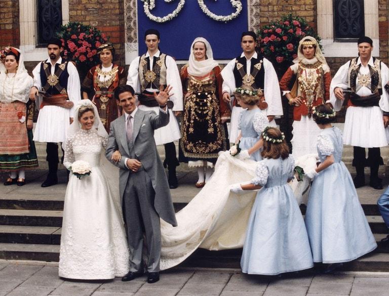 Korunní princ Pavlos a Marie-Chantal Miller, 1995
