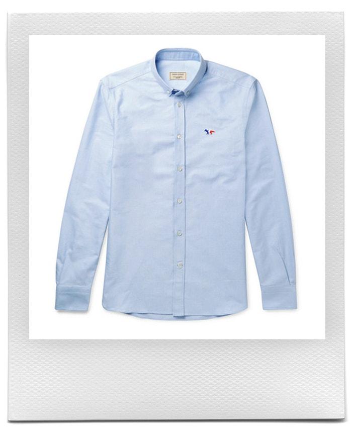 Modrá košile s liškou, Maison Kitsuné, prodává Mr Porter, £ 165 Autor: Mr Porter