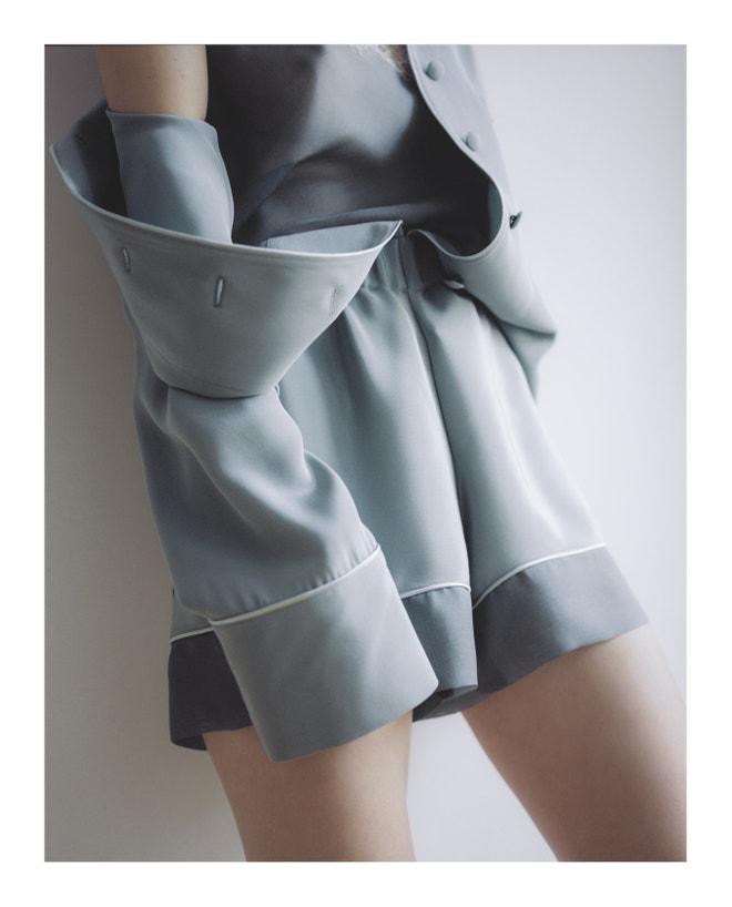 Hedvábné pyžamo z kapsulové kolekce, kterou Zuzana pojmenovala jednoduše Leisure.