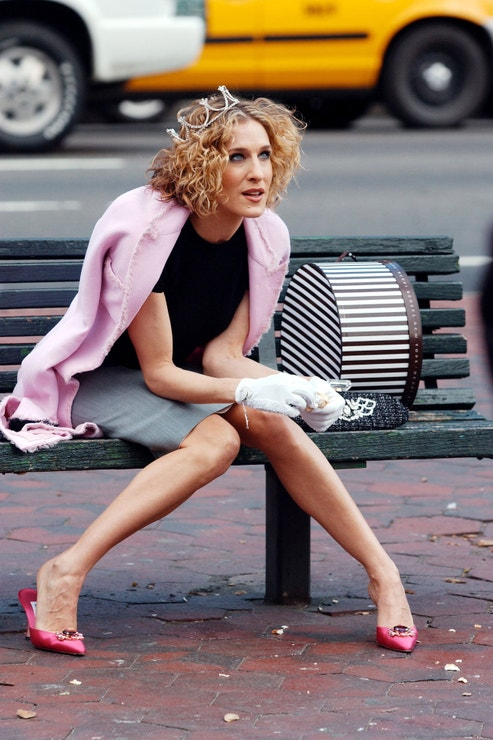 Carrie Bradshaw v botách Manolo Blahnik