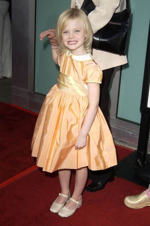 Elle Fanning na premiéře filmu Uptown Girls, srpen 2003