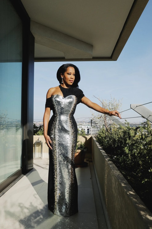 Regina King v šatech Louis Vuitton