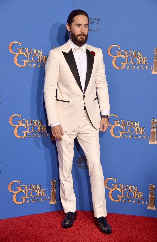 Jared Leto na předávání cen Golden Globe Awards v The Beverly Hilton Hotel, leden 2015      Autor: Kevin Winter/Getty Images