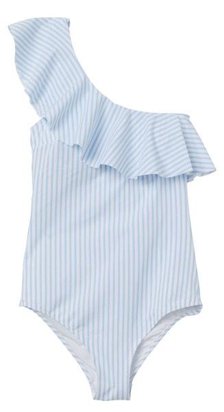 Pruhované plavky s volánem, H&M, prodává HM.com, 899 Kč