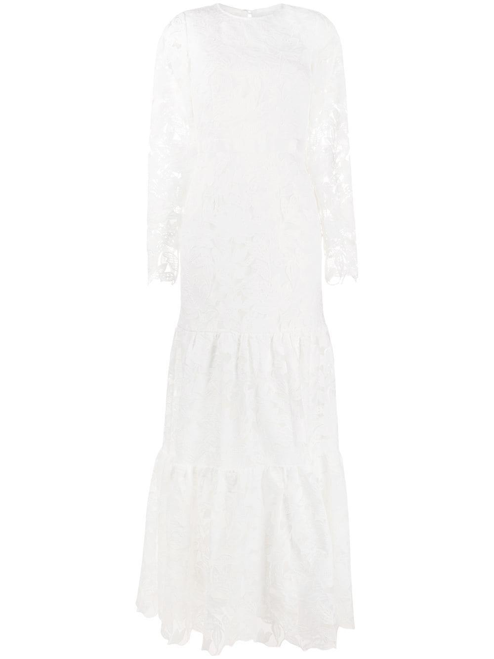 Krajkové šaty s dlouhými rukávy, SELF-PORTRAIT