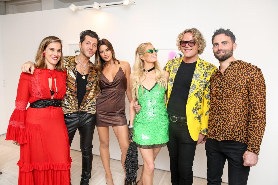 Artemis Baltoyanni, Evangelo Bousis, Ariadna Gutiérrez, Paris Hilton, Peter Dundas a Peter Rahal na Art Basel 2019