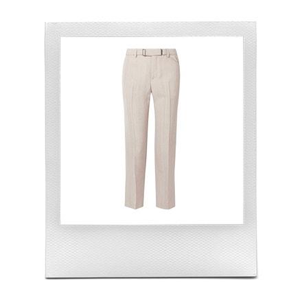 Rovné kalhoty s páskem, Bottega Veneta, prodává Net-a-Porter, 1 100 €