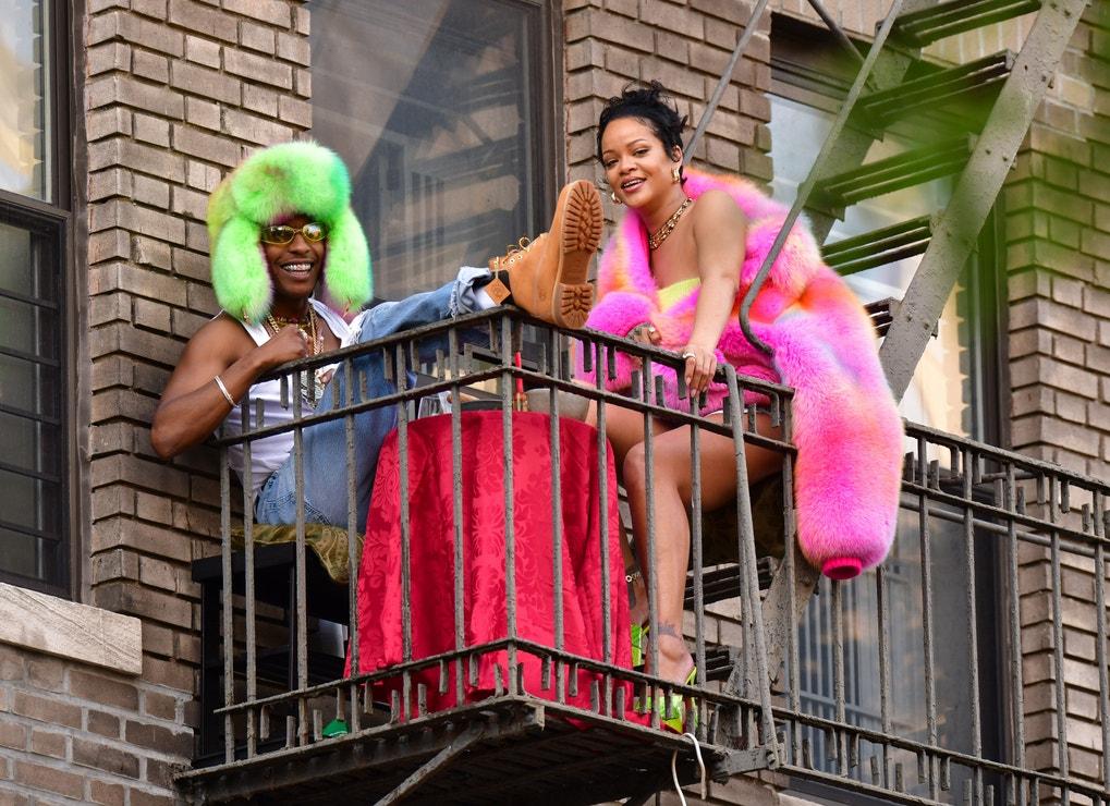 A$AP Rocky a Rihanna v New Yorku, červenec 2021