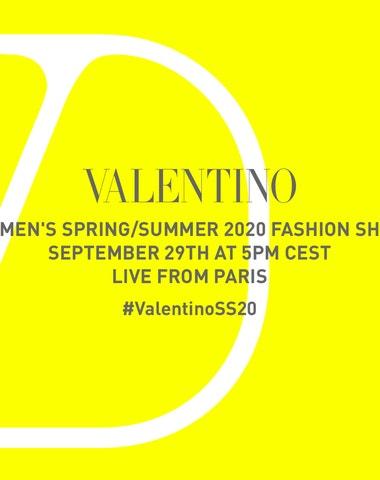 Živě z Paříže: Valentino prêt-à-porter SS 2020