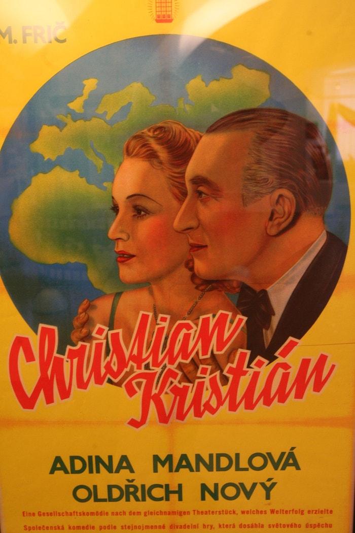 Plakát k filmu Kristián s Adinou Mandlovou a Oldřichem Novým
