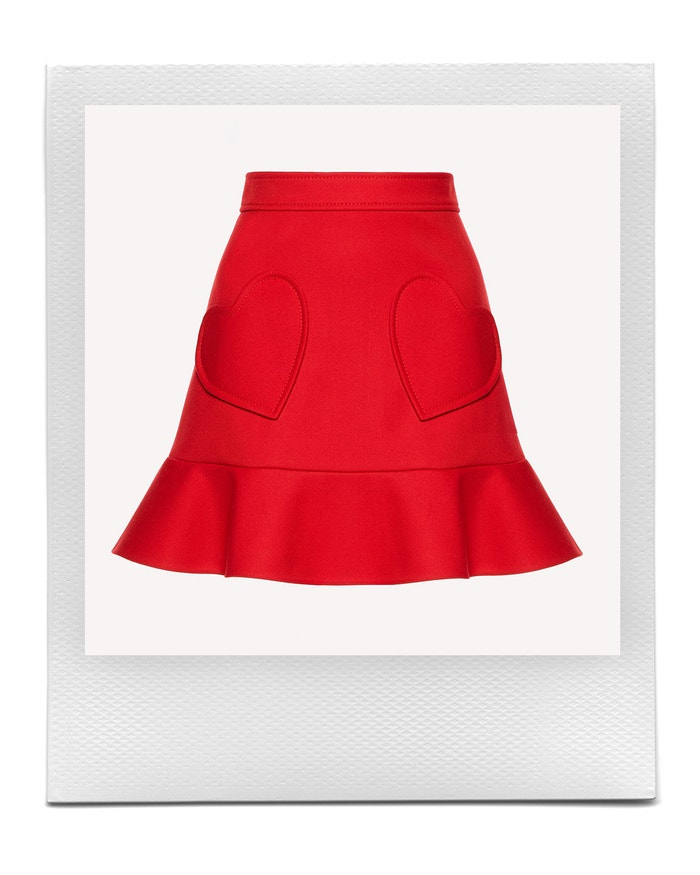 Technical Tricotine Skirt With Heart Detail, REDValentino, sold by REDValentino, € 265,00