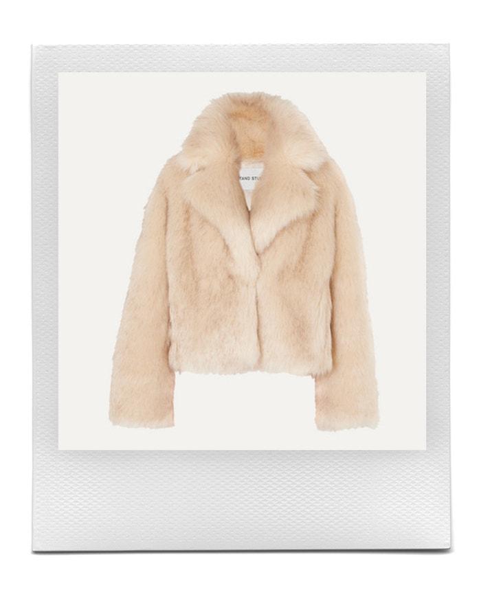 Pernille Teisbaek Janet faux fur jacket, STAND STUDIO, sold by Net-a-porter, € 380.00