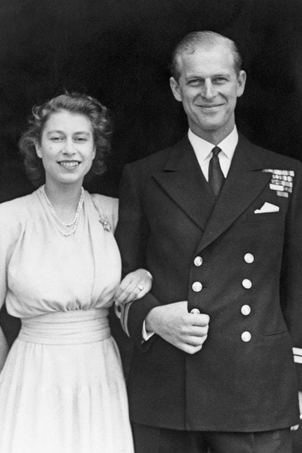 Princ Philip a princezna Alžběta v roce 1947