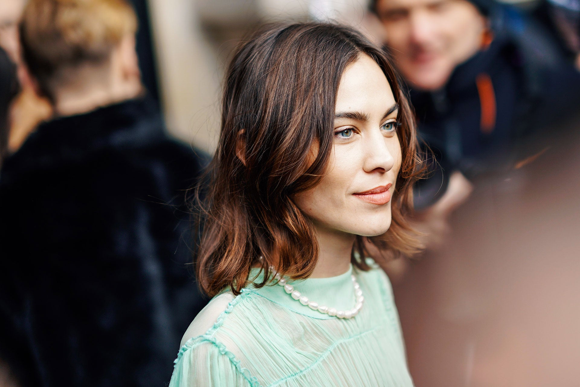 Alexa Chung po přehlídce kolekce Stella McCartney AW19/20, Paris Fashion Week, březen 2019, Paříž Autor: Edward Berthelot/Getty Images