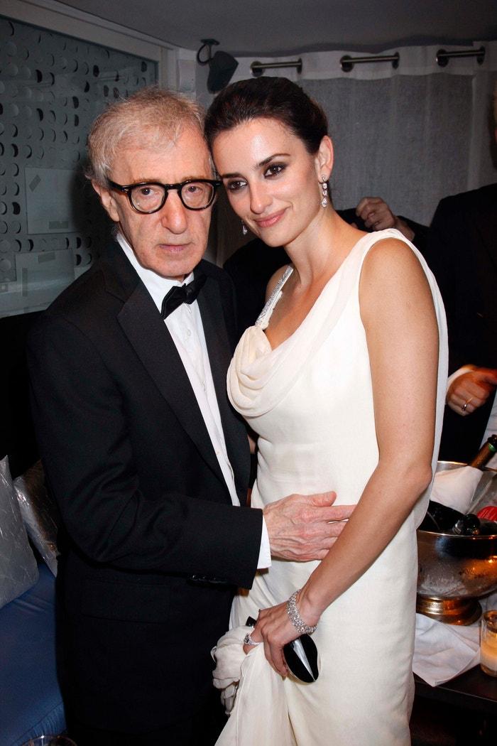 Woody Allen a Penélope Cruz  na party k filmu Vicky Cristina Barcelona v Cannes, 2008