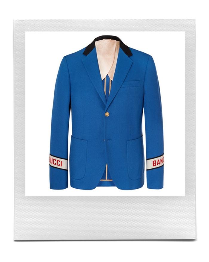 Sako v barvě Blue Cambridge, Gucci, prodává Mr Porter, 2 200 £ Autor: Mr Porter