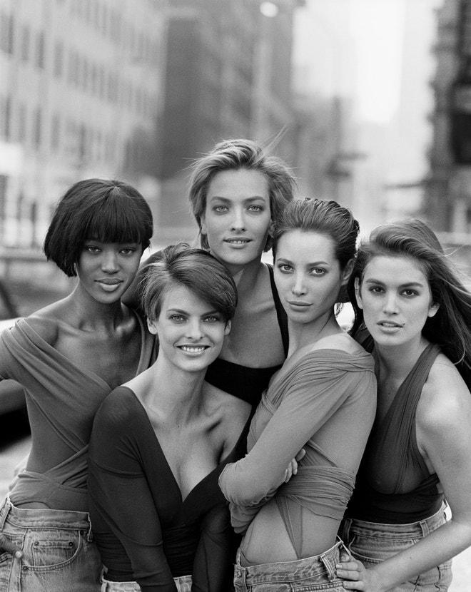 Cover britské Vogue, leden 1990