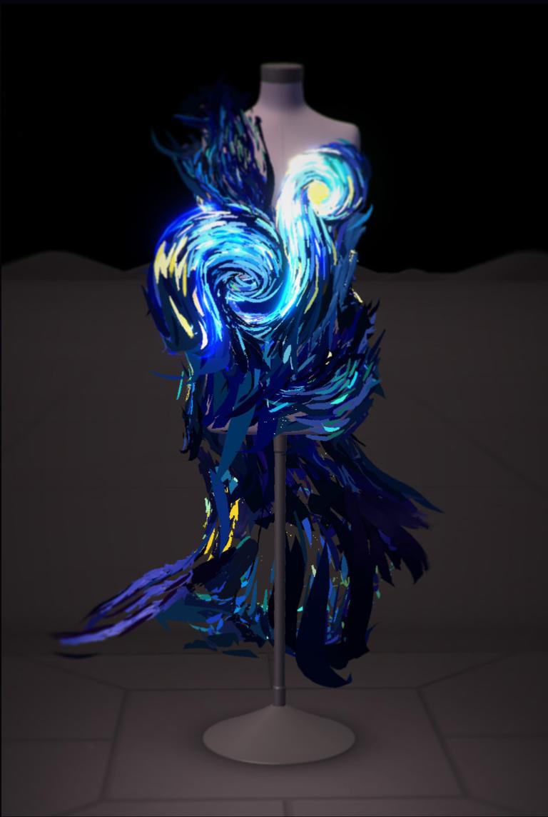 Oděv navržený ve virtuální realitě pomocí Google Tilt Brushe