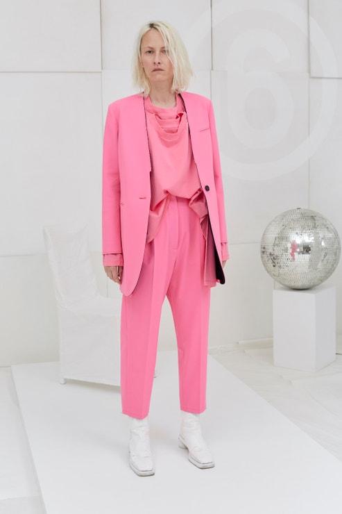Růžový kalhotový kostým, MM6 Maison Margiela