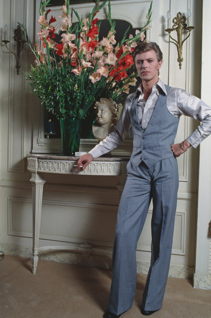 David Bowie v hotelu Four Seasons George V, Paříž, 1977 Autor: Christian Simonpietri/Sygma/VCG via Getty Images