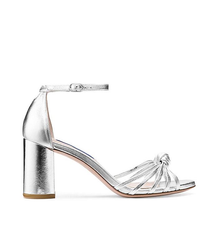 Metalické sandálky na širokém podpatku, Stuart Weitzman, Stuart Weitzman, 440 €